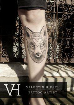 fox tattoo by Valentin Hirsch