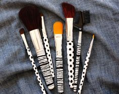 Custom Makeup Brush DIY Project - A Beautiful Mess