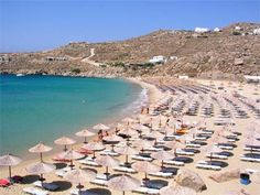 Super Paradise Beach Greece. Nice, but insanely crowded when the weather is perfect for swimming. Far too crowded.