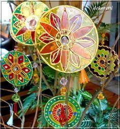 Fangt die Sonne ein ... aus CD-Rohlingen hübsche Suncatcher basteln
