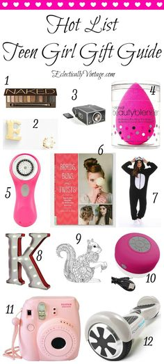 The hottest teenage girl gift guide. Give one of these gifts and you'll score major cool points with the teen girl in your life. Lots of price pointss