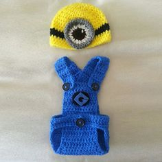 Crochet For Children: Crochet Minion Infant Outfit - Free Pattern