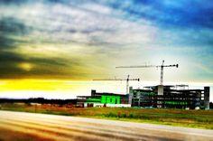 New NEA Baptist Hospital Construction in Jonesboro, Arkansas at Dusk  Near NEA, Jonesboro, Arkansas and Memphis, Tennessee Jonesboro | Memphis | Construction | Architecture | Vintage | IPhoneography | Arkansas | From www.arkansasconstruction.co