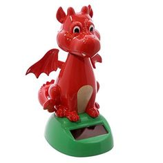 Other Home Decor Novelty Solar Powered Head Bobbing Red Welsh Dragon , Dashboard Toy, Home Or Car & Garden Welsh Dragon, Solar Panels, Solar Power, Toys, Car, Home Decor, Garden, Furniture, Amazon