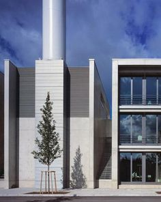 Combined heat and power unit (CHP) and administrative building | Luxembourg | Paul Bretz Architects