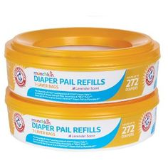 Arm & Hammer® Baby 2-Pack Diaper Pail Liner Multicolored
