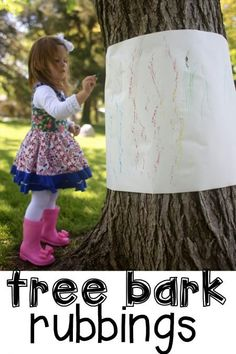 Outdoor Tree Bark Rubbings It's Day 4 of our 31 Days of Outdoor Activities for Toddlers! Today we experimented with creating Outdoor Tree Bark Rubbings in our backyard 4 Year Old Activities, Outdoor Activities For Toddlers, Forest School Activities, Nature Activities, Toddler Learning Activities, Spring Activities, Fun Activities For Preschoolers, Learning Games, Toddler Preschool