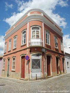 Quirky buildings in Loulé, Faro, Portugal.