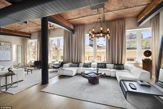 Industrial: Former One Direction crooner Zayn's digs boasts four sprawling bedrooms and ba...