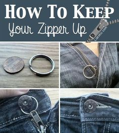 Keep your zipper in place