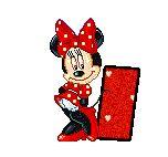 Alfabeto animado de Minnie coqueta.