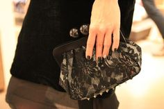 Black lace wedding clutch #matahari_bags AMY LACE CLUTCH