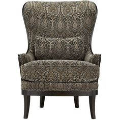 Portsmouth Upholstered Chair In 2280 Pewter (€1.455) ❤ liked on Polyvore