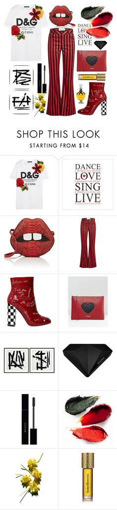 """""""My Fave Shirt"""" by bysc ❤ liked on Polyvore featuring Dolce&Gabbana, Gelareh Mizrahi, Marques'Almeida, Love Moschino, Williams-Sonoma, Sephora Collection, Gucci, Rituel de Fille and Strangelove NYC"""