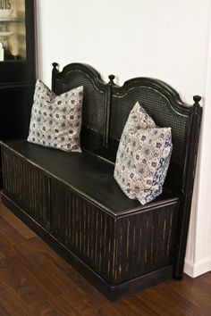 great looking bench from old headboard