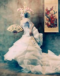 DREAM OF GEISHA. Shot by fashion photographer Tina Patni, the To Dream of Japan photo series is softly shot despite its bold makeup looks, by makeup artist Gene Ginno Alducente. Gown provided by Amato Haute Couture. The hair was styled by Jojo Padua