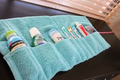 Washcloth travel pouch. Interesting product