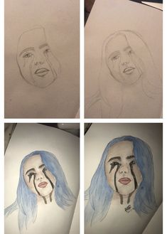 billie eilish pencil drawing my diy projects in 2019 pencil drawings billie eilish art. Black Bedroom Furniture Sets. Home Design Ideas