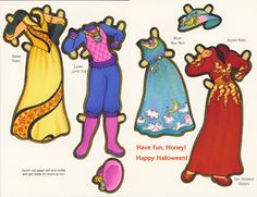 Halloween Paper Doll Cards - Space Princess