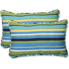 Pillow Perfect Inc - Topanga Stripe Lagoon Rectangular Throw Pillow, Set of 2 - Outdoor Cushions and Pillows Buy Pillows, Toss Pillows, Throw Pillow Sets, Accent Pillows, Pillow Covers, Outdoor Cushions, Outdoor Throw Pillows, Outdoor Seating, Chair Cushions