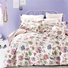 Aliexpress.com : Buy Pink  foral  and grid girls  bedding set couvre lit ropa de cama bed covers and comforters queen size from Reliable comfort jewelry suppliers on asia bedding mall