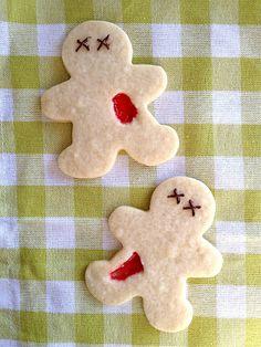 Simple Bloody Zombie Cookies · Edible Crafts