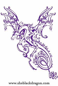 Dragon Shimmer - T-shirt design to be printed on black with a silver ink © Spiral Direct