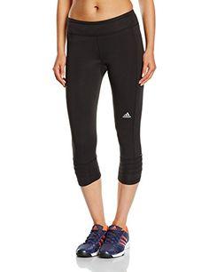 Adidas Women's Response Three-Quarter Tights - Black/Black, Medium  Price…
