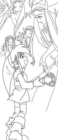 106 best Lineart: Zelda & Link images on Pinterest | Coloring pages ...