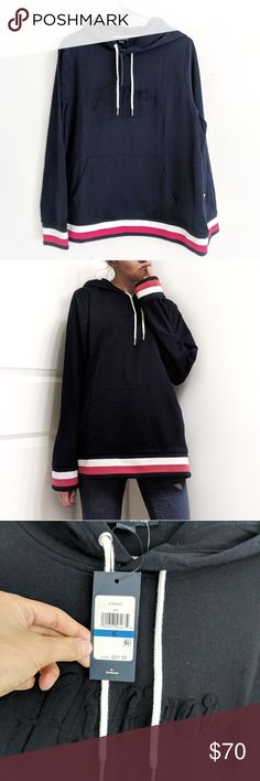NWT Tommy Hilfiger Hoodie Sweatshirt Pullover Tbd Tommy Hilfiger Tops Sweatshirts & Hoodies