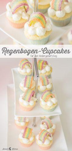 Kleine Regenbogen-Cupcakes für die Einhornparty – Schnin's Kitchen Small rainbow cupcakes for the children's birthday party or the next unicorn party. Fluffy vanilla dough with quick butter cream. Cupcakes Arc-en-ciel, Diy Wedding Cupcakes, Rainbow Cupcakes, Cupcake Fondant, Wedding Cake, Raspberry Smoothie, Apple Smoothies, Pear Cake, Salty Cake