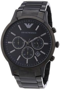 Emporio Armani Herren-Armbanduhr XL Chronograph Quarz Edelstahl AR2453 - #quarzuhr #chronograph #xluhr #armani #herrenuhr - http://uhrify.de/uhrenmarken/armani-uhren-herren/