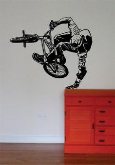 BMX Biker Version 5 Design Sports Decal Sticker Wall Vinyl - boop decals - vinyl decal - vinyl sticker - decals - stickers - wall decal - vinyl stickers - vinyl decals