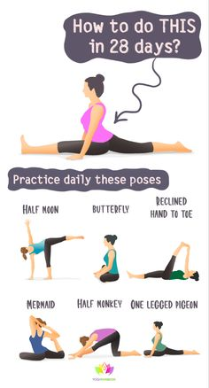 How to Do Full Split in 28 Days - YogiRainbow Full Body Workouts, Beginner Workouts, Full Body Workout At Home, Gym Workout For Beginners, Gym Workout Tips, Workout Videos, At Home Workouts, How To Do Gymnastics, Gymnastics For Beginners