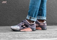 outlet store 44805 35e40 Asics x Woei Gel-Lyte III  Vintage Nylon  (Apricot Nectar   Black)