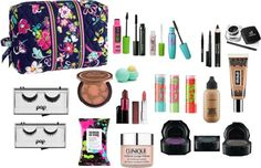 """""""what's in my makeup bag"""" by snuffieloves ❤ liked on Polyvore"""