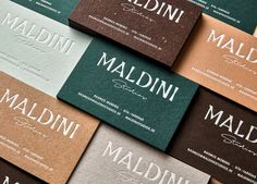 Maldini Studios by Jens Nilsson, Sweden. #businesscards #branding