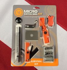 "Micro survival series survival tools emergency tactical earthquake kit equip UST #UST  Micro Survival Series Kit Compact and lightweight survival tools Extremely portable Contains the essential tools to keep you safe on your next adventure Keep in your car or bug out bag  MICRO KIT INCLUDES: 1 Aloksak Waterproof bag 5""X4"" waterproof to 200ft 1 liquid filled button compass 1 saber cut razor saw compact cutting tool 1 Pico 1.0 safety light with 10 lumen output aircraft grade aluminum…"