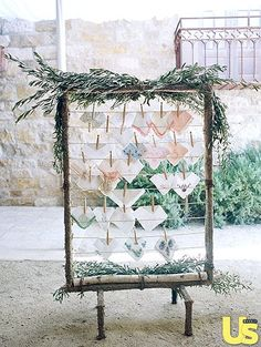 cute idea: have different vintage hankies for your guests at the ceremony when things get emotional {so cute}