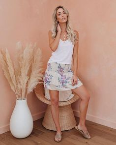 Floral Aroma Smocked Tiered Mini Skirt – VICI Short Skirts, Mini Skirts, Tiered Skirts, Dusty Blue, Final Sale, Smocking, Ruffles, Off The Shoulder, Stylists