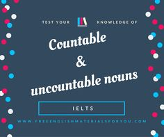 Countable & uncountable nouns - English quiz - Free English Materials For You #countableanduncountablenouns #countable #uncountable #English #Englishquiz #LearningEnglish