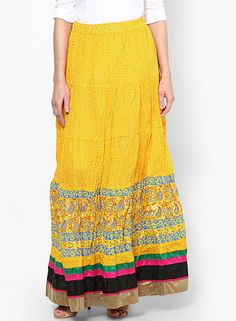 The Sunny Cheery One Yellow Skirt - Indian Style Skirts for Woman of All Ages