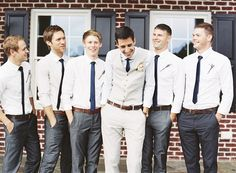 skinny ties | Alicia Swedenborg #wedding