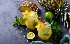 Suco Detox de Abacaxi e Limão Para Prevenir a Flacidez