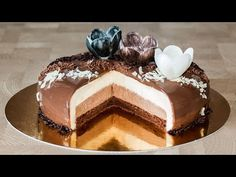 Торт Три шоколада (форма Eclipse) | Triple-Chocolate Mousse Cake Recipe (Eclipse Form) - YouTube