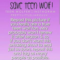 If u guys love TW, pls pls pls spread this! We need more than Season 5! @fizaathar Agh they need to renew  Or another channel needs I pick them Up!!!!