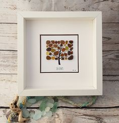 Ready to Ship Seaglass Art Beach Picture Wall by PebbleStories
