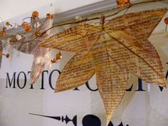 Dollar Store Crafts » Blog Archive » Make a Newspaper Leaf Garland