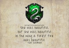 """""""She was beautiful, but she was beautiful in the way a forest fire was beautiful."""""""