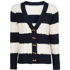 Mango Striped cardigan (145 BRL) ❤ liked on Polyvore featuring tops, cardigans, sweaters, jackets, navy, women, striped top, navy cardigan, navy blue cardigans and blue striped top